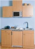 Singleküche - Pantryküche - Küchenblock 150 cm & Mikrowelle