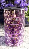 Mosaik Solarleuchte Solar Solarlampe Kegel Deko lila Eglo