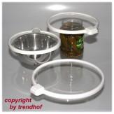 3 x Universal Vakuumdeckel Deckel Frischhalter für Dosen Gläser Küche