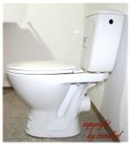 Cersanit Keramik Tiefspül WC Set Abgang waagerecht mit Keramik Spülkasten