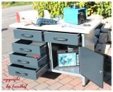 Werkbank Werkstatt Werkzeug Arbeitsplatz Werkstattausrüstung Metall Holz mit Schubladen