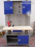 Komplette Werkstatt 2-teilig blau Drehgriffe