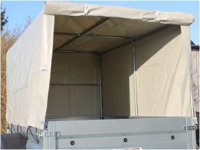 Neptun PKW Anhänger GN129 750 kg extra breit Hänger 13 Zoll Bereifung