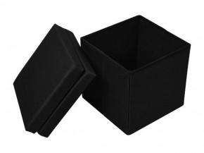Multifunktionsbox Truhe Sitz Hocker Stuhl platzsparend faltbar schwarz