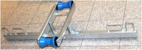 Kipprolle Doppelkipprolle V Rolle f. Bootstrailer m. Halter / Traverse