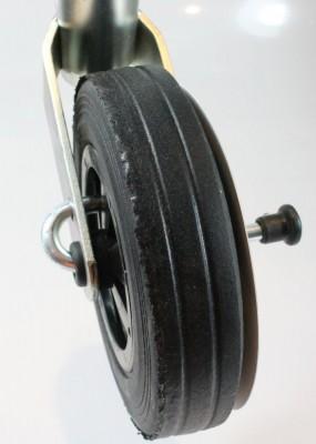 Stützrad Bugrad m. Bremse gebremst Radbremse + Halterung Klemmschelle