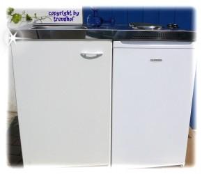 Miniküche - Singleküche - Pantryküche - Büroküche 1 m weiß